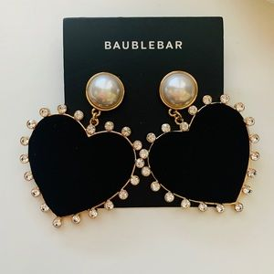 NEW- Baublebar Amalia Pearl Heart Shaped Earrings
